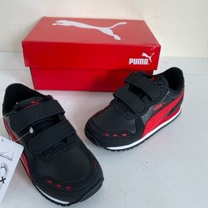 Puma toddler boys black sneakers size 9 new
